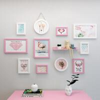 北欧风客厅背景墙装饰画简约现代照片墙装饰房间创意个性相框挂墙卧室墙上挂照片相片框