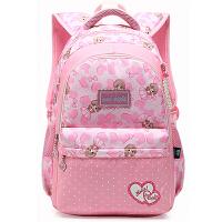 韩版可爱小清新双肩包女生初中学生书包小学生4-6六年级校园背包SN6744 粉红色 大号 4-9年级