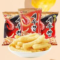【包邮】韩国进口 农心膨化鲜虾条 原味/辣味 90g*2袋