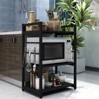打印机架子置物架微波炉架三层木质3层架收纳烤箱支架储物厨房置物架