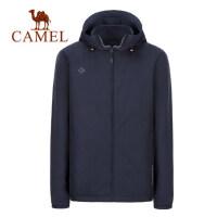 camel骆驼男装秋冬新款韩版修身防风帅气连帽夹克运动休闲外套男