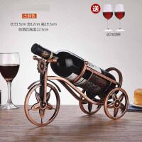 结婚摆设摆件壁挂家居饰品装饰品工艺品置物架酒瓶陶瓷美式红酒架摆件 客厅复古葡萄酒Q +2只350ML酒杯