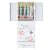 卡通儿童衣柜双开门收纳柜子抽屉式塑料储物柜子婴儿宝宝简易衣柜
