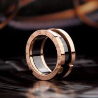 装饰食指罗马数字戒指女指环简约个性时尚镀玫瑰金情侣饰品
