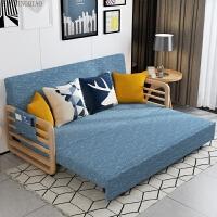北欧沙发床1.5小户型实木多功能乳胶布艺沙发折叠拆洗1.8客厅沙发 1.5米-1.8米