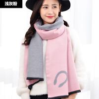 围巾女冬季加厚长款韩版时尚仿羊绒可爱小女孩百搭学生风披肩