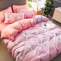 南极人棉绒四件套A全棉B珊瑚绒被套床单秋冬加厚保暖纯棉床上用品.