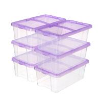 加厚透明鞋盒大号男女式鞋子收纳盒塑料组合简易鞋柜鞋子盒 35.2x20.4x12.3cm