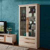 御品工匠 北欧全实木酒柜 客厅创意时尚木质格子柜厅柜餐厅家具 B01酒柜