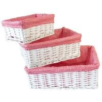 收纳筐储物筐整理篮脏衣服厨房零食杂物盒田园布艺篮家居日用收纳用品