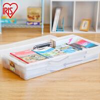 爱丽思IRIS 床下透明衣物收纳箱 树脂杂物整理盒UB-950