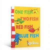 One Fish Two Fish Red Fish Blue Fish一条鱼,两条鱼,红色的鱼,蓝色的鱼 苏斯博士阶段经典绘本汪培�E廖采杏吴敏兰推荐书目英文原版绘本 送音频