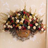 欧式壁挂装饰客厅餐厅欧式墙壁挂花瓶门挂饰壁饰家居挂墙上装饰品客厅创意复古墙面挂件