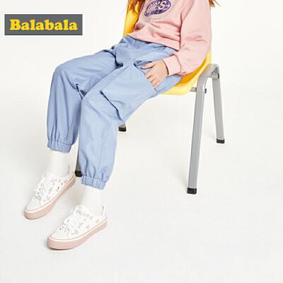 巴拉巴拉童装儿童运动裤女童裤子秋装2019新款中大童潮酷时尚长裤