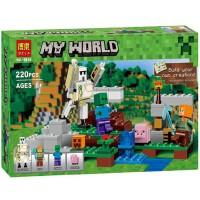 乐拼10468我的世界 铁傀儡钢铁巨人拼装积木人仔 儿童益智玩具