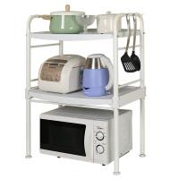 厨房置物架落地多层架厨卫免打孔架客厅整理架厨房用品架 【豪华款】1209四层置物架 象牙色