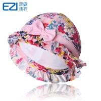 弈姿EZI新款设计游泳帽 儿童泳帽 女童蝴蝶印花泳帽 8002