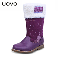 UOVO2017童鞋新款童靴冬季女童靴子儿童雪地靴中筒保暖女童雪地靴 安纳西