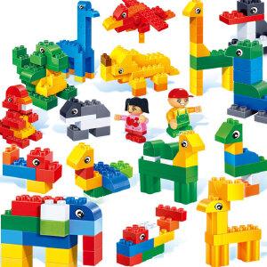 【当当自营】邦宝大颗粒儿童爱上幼儿园学前早教具积木教育玩具动物认知6505