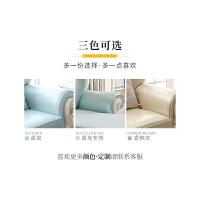 欧式沙发组合客厅整装小户型家用实木雕花皮艺沙发简欧 组合