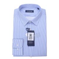 youngor/雅戈尔 新品 BN12646HJA男士蓝色条纹保暖长袖衬衣