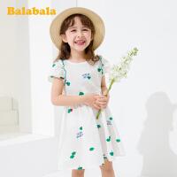巴拉巴拉童装女童裙子儿童夏季2020新款小童宝宝连衣裙田园风洋气