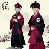 新款儿童古装书童国学汉服三字经弟子规朗诵幼儿学生班服演出服装