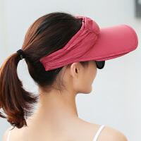 韩版空顶遮阳帽女夏季百搭大沿骑车防晒遮阳帽户外防紫外线太阳帽