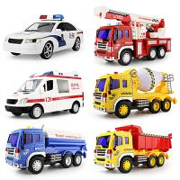 大号音乐警车救护车消防洒水车惯性儿童玩具男孩仿真工程汽车模型