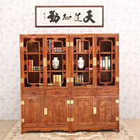 包邮简迪红木办公书柜非洲花梨木明式书柜组合书房书橱实木柜子储物柜