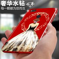 免邮 小米手机壳 手机套 新款镶钻全包保护壳 背景女孩红米4X 红米 4 X 保护套