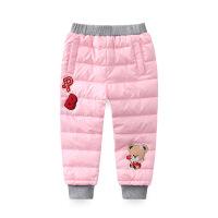 【99元2件】儿童羽绒裤女童外穿 2018新款加厚保暖AB版中童裤子 童装休闲长裤