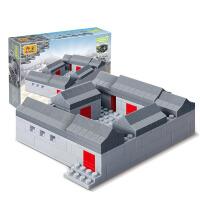 小颗粒邦宝迷你古典建筑模型拼插益智积木儿童玩具天安门天坛长城
