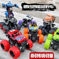 儿童玩具车合金四驱越野模型2-6-10岁迷你惯性男孩变形汽车总动员