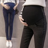 孕妇牛仔裤春秋外穿长裤2018新款春装2-5 3-9个月裤子孕妇打底裤