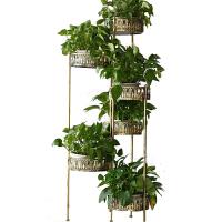 铁艺多层绿萝花架折叠客厅阳台室内花架子转角落地欧式多肉花盆架
