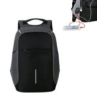 男15.6寸17.3寸笔记本电脑多功能USB充电双肩包旅行背包