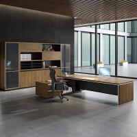 办公家具现代简约老板桌大班台办公桌椅组合大气总裁桌经理主管桌