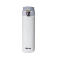 德铂Debo 真空保温杯304不锈钢水杯男女士大容量便携茶杯弹跳盖杯子DEP-719白色