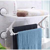 双庆 家居 单层双杆浴室架吸盘置物架不锈钢毛巾架 SQ-1861