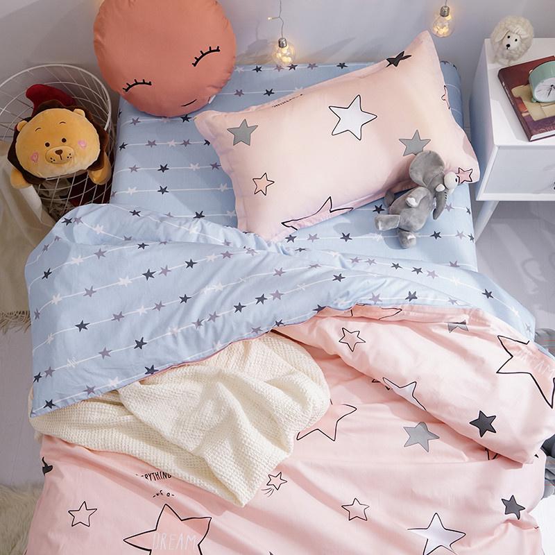 纯棉宿舍床上三件套少女心床单被罩2两件套学生寝室六件套单人床