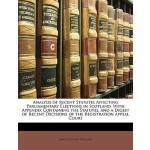 【预订】Analysis of Recent Statutes Affecting Parliamentary Ele