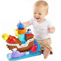 怀乐 宝宝海盗船玩具可发射球儿童早教触感音乐男女孩子益智玩具