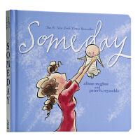 【中商原版】现货Someday有一天 英文原版母爱 亲情 感动你我 幼儿绘本 纸板书