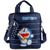 新款小学生作业袋儿童A4补课包补习班手提手拎书包儿童斜挎包 深蓝色 叮当猫