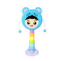 生肖拨浪鼓宝宝卡通益智双面手摇鼓拍鼓新生儿婴儿玩具0-1岁