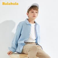 【7折价:69.93】巴拉巴拉童装男童衬衫儿童长袖衬衣2020新款中大童百搭休闲上衣潮