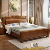 美立居工坊MLJ-C003中式橡木实木床含一个床头柜席梦思床垫