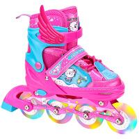 旱冰鞋轮滑鞋男女直排3-7-12岁儿童单排溜冰鞋全套装直排轮