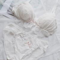 日系软妹可爱女生蕾丝纯棉无钢圈三角杯内衣性感少女甜美文胸套装